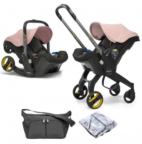 Doona Infant Car Seat / Stroller With Free Raincover & Changing Bag - Blush Pink