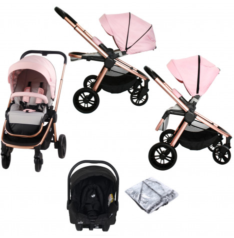 My Babiie MB400 Dreamiie  (Juva) Travel System *Samantha Faiers Signature Range* - Pink Clouds