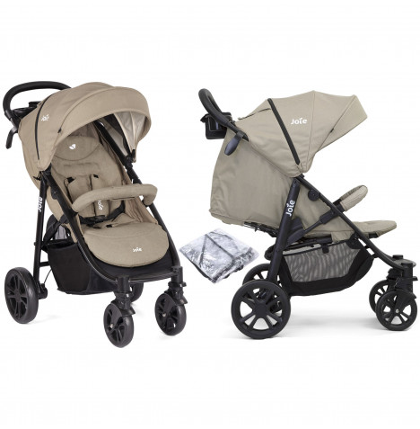 Joie Litetrax 4 Wheel Pushchair Stroller - Twig