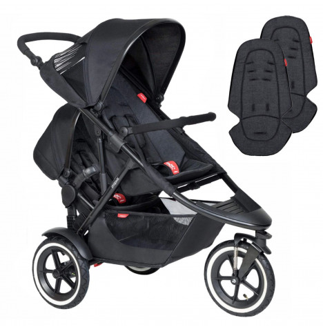 Phil & Teds Sport Tandem Pushchair - Black