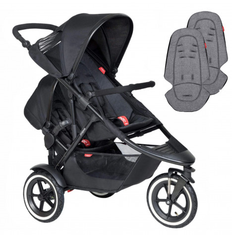 Phil & Teds Sport Tandem Pushchair - Black / Charcoal