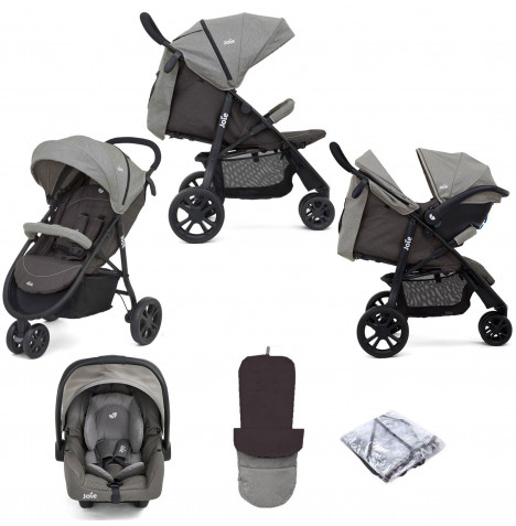 Joie Litetrax 3 Wheel (Gemm) Pushchair Travel System - Dark Pewter
