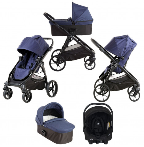 Baby Jogger City Premier (Juva) Travel System with Carrycot - Indigo Blue