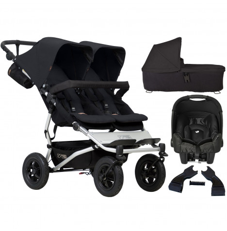 Mountain Buggy Duet V3 (Gemm) Travel System & Carrycot - Black