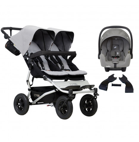 Mountain Buggy Duet V3 (i-Snug) Travel System - Silver