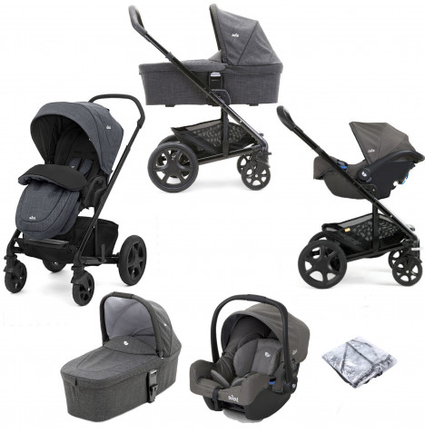 Joie Chrome DLX (Gemm) Travel System With Carrycot - Pavement