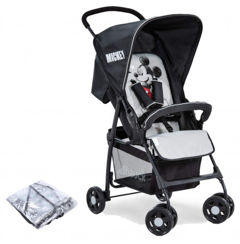 Hauck Disney Sport Pushchair Stroller with Raincover - Mickey Stars grey