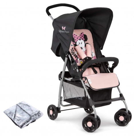 Hauck Disney Sport Pushchair Stroller with Raincover - Minnie Sweetheart