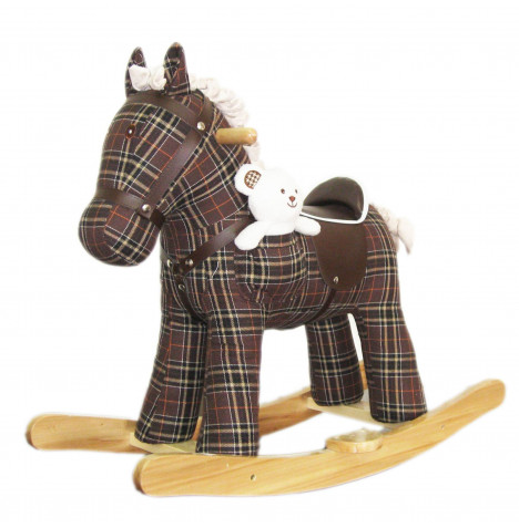 Cuddles Collection Rocking Horse Toy - Storm