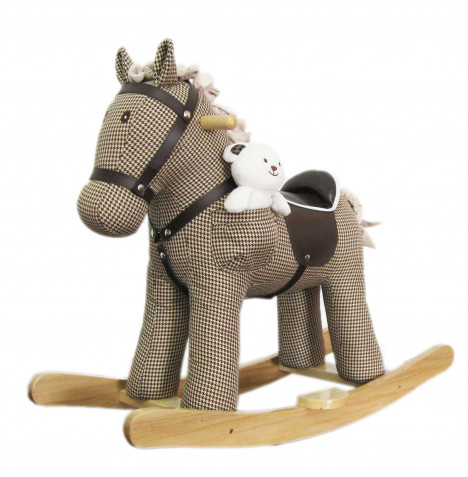 Cuddles Collection Rocking Horse Toy - Biscuit