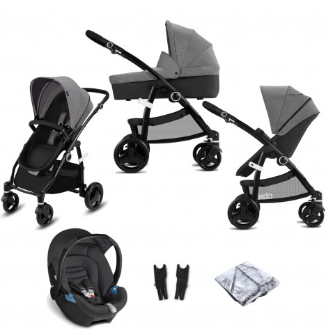 Cybex CBX Leotie Pure (Aton) Travel System with Carrycot - Comfy Grey