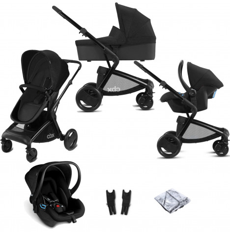 Cybex CBX Bimisi Pure (Shima) Travel System with Carrycot - Smoky Anthracite