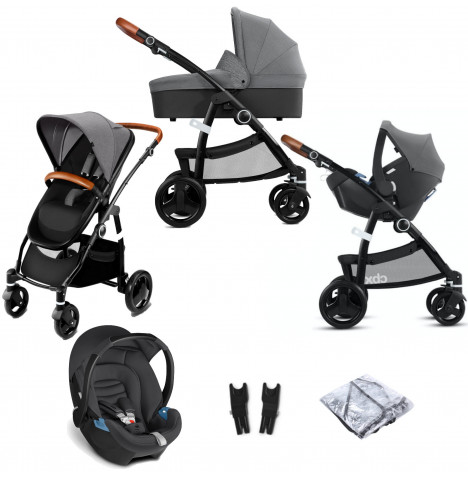 Cybex CBX Leotie Lux (Aton) Travel System with Carrycot - Comfy Grey