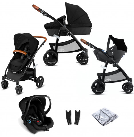 Cybex CBX Leotie Lux (Shima) Travel System with Carrycot - Smoky Anthracite