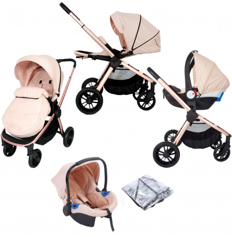 My Babiie MB400 *Billie Faiers* Travel System - Rose Gold Blush