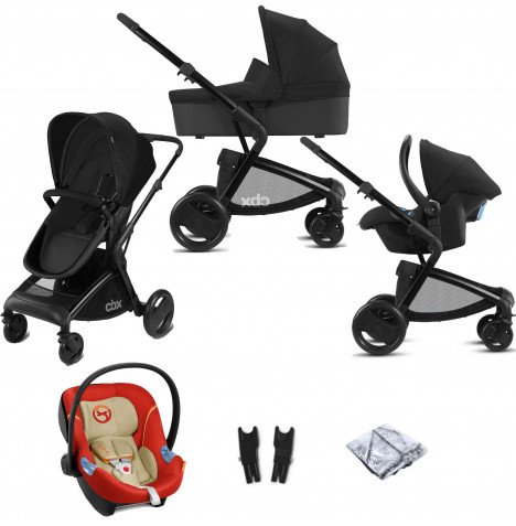 Cybex CBX Bimisi Pure (Aton M) Travel System with Carrycot - Smoky Anthracite