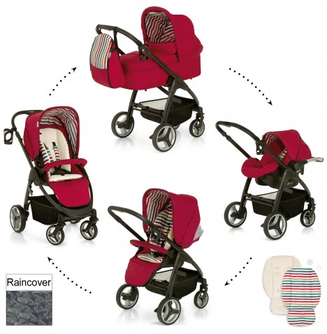 Hauck Lacrosse All In One Travel System - Chilli