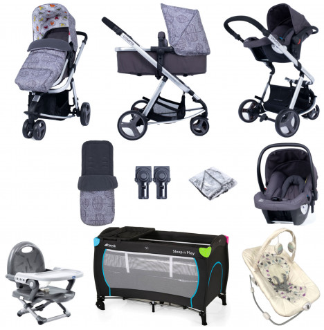 Cosatto Giggle Lite (Hold) Everything You Need Travel System Bundle - Dawn Chorus