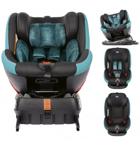 Chicco Seat4fix Group 0+/1/2/3 360° Spin Infant ISOFIX Car Seat - Octane Blue