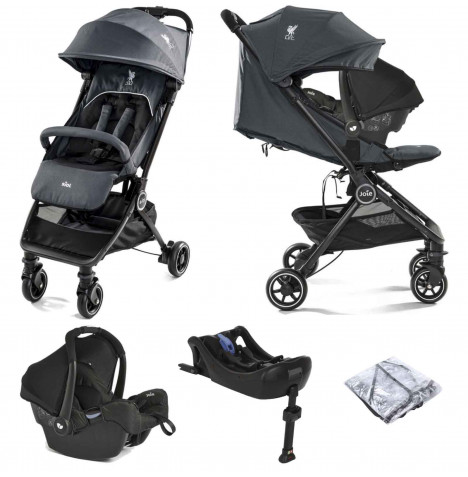 Joie Pact Flex (Gemm) Travel System with Isofix Base - (LFC) Black Liverbird