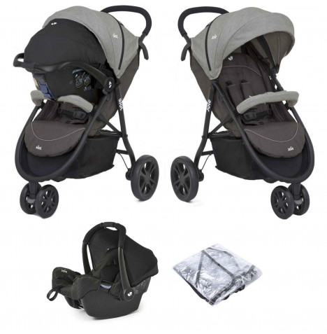 Joie Litetrax 3 (Gemm) Travel System - Dark Pewter
