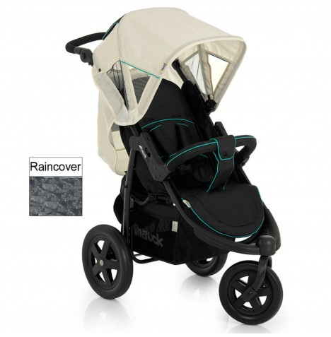 Hauck Viper 3 Wheel Pushchair - Caviar / Beige