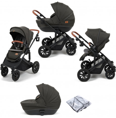Babylo Traverse 2in1 Pushchair & Carrycot - Black / Grey