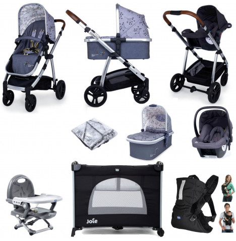 Cosatto Wow (Hold) Travel System Everything You Need Bundle - Hedgerow
