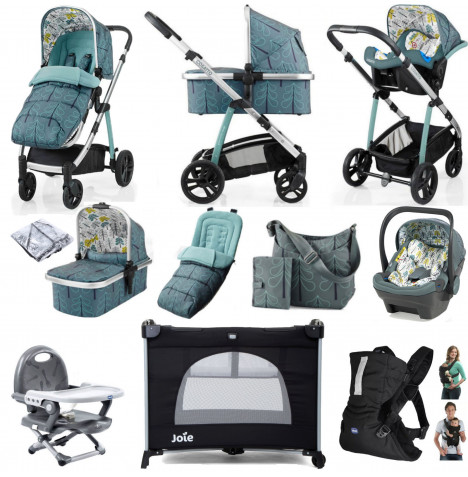 Cosatto Wow (Dock) Everything You Need Travel System Bundle With Accessories - Fjord