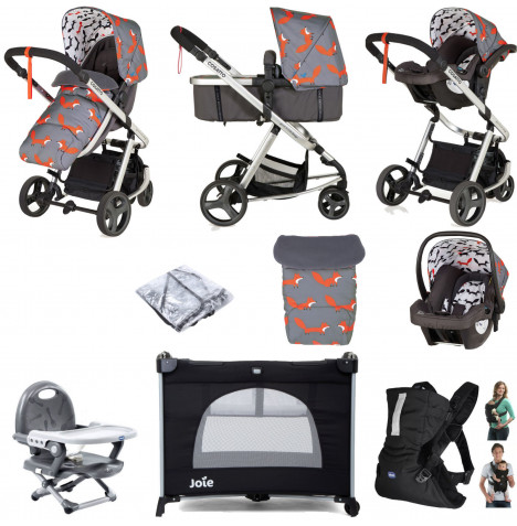 Cosatto Giggle Mix Pramette Everything You Need Travel System Bundle - Mister Fox