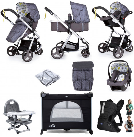 Cosatto Giggle Mix Pramette Everything You Need Travel System Bundle - Fika Forest
