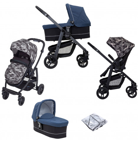 Graco Evo 2 in 1 Pushchair Stroller with Carrycot - Camo