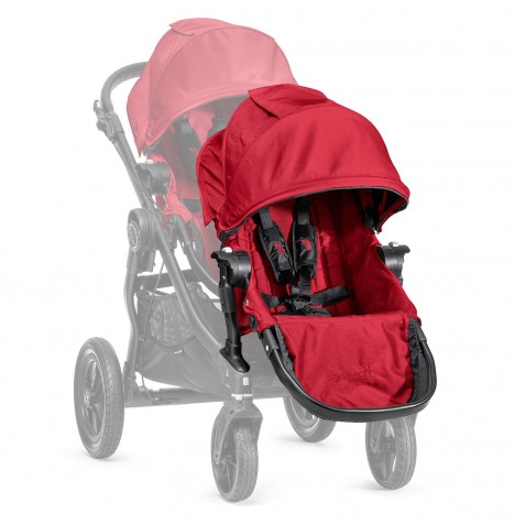 New Baby Jogger Select 2nd Seat With Adaptor - Red