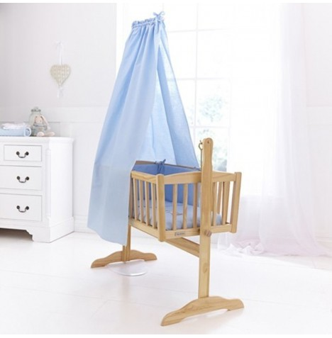 Clair De Lune Cot / Cot Bed / Crib Freestanding Drape Set - Blue
