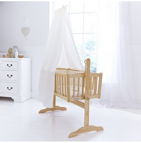 Clair De Lune Cot / Cot Bed / Crib Freestanding Drape Set - Cream