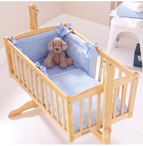 Clair De Lune Rocking Cradle Quilt & Bumper Set - Honeycomb Blue