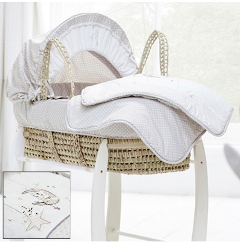 Clair De Lune Bedtime Story Padded Palm Moses Basket