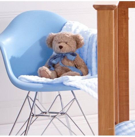 Clair De Lune Marshmallow Pram / Moses Basket / Crib Blanket - Blue