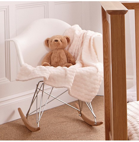 Clair De Lune Marshmallow Pram / Moses Basket / Crib Blanket - Cream