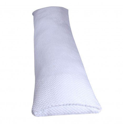 Clair De Lune Honeycomb Bolster Support Cushion - White
