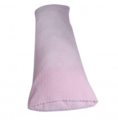 Clair De Lune Honeycomb Bolster Support Cushion - Pink