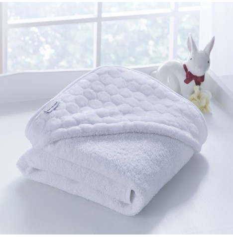 Clair De Lune Luxury Hooded Towel - Marshmallow White