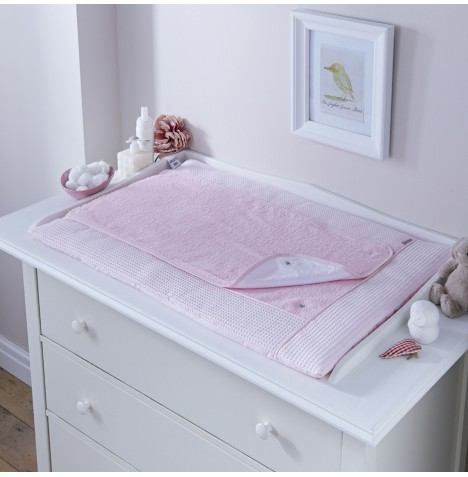Clair De Lune Luxury Changing Mat - Waffle Pink