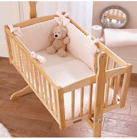Clair De Lune Rocking Crib Quilt & Bumper Set - Dimple Cream
