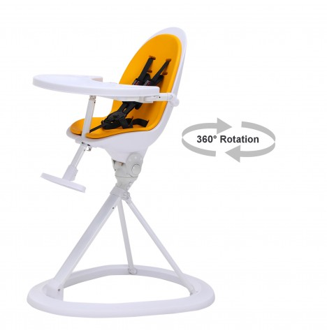 ickle bubba Orb White Highchair - White / Yellow