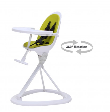 ickle bubba Orb White Highchair - Wihte / Lime