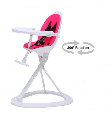 ickle bubba Orb White Highchair - White / Pink