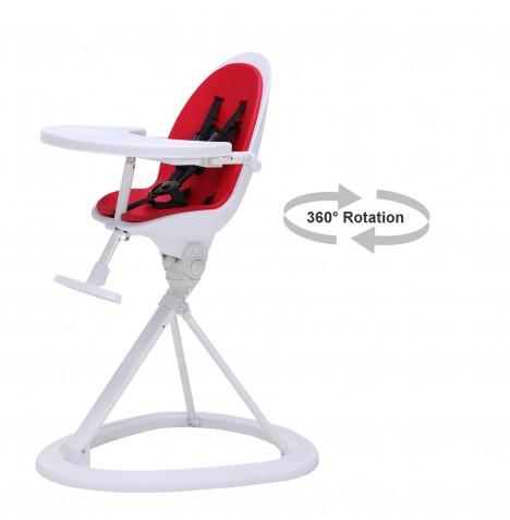 ickle bubba Orb White Highchair - White / Red