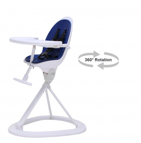 ickle bubba Orb White Highchair - White / Blue