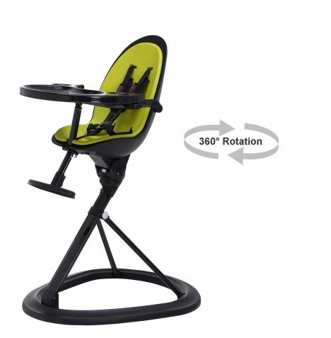 ickle bubba Orb Black Highchair - Black / Lime